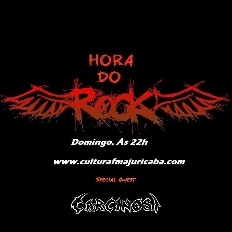 """CARCINOSI – MÚSICA NO PROGRAMA """"HORA DO ROCK"""" NA RÁDIO CULTURA DE AJURICABA"""
